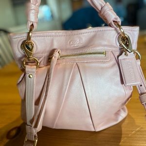 NWOT COACH PINK LEATHER